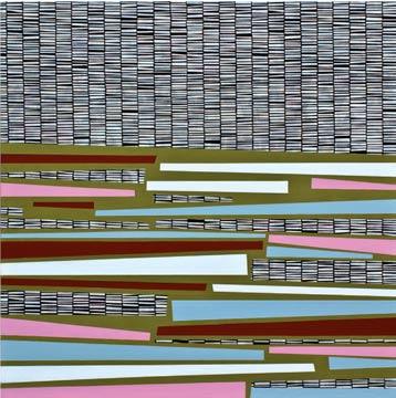 Manuel Losada End credits, 2009 Acrílico sobre tela estampada 97X97 cm.