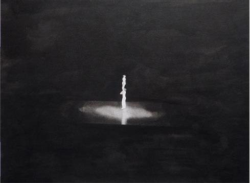 Equilibristas, 2010, tinta china sobre papel Montval, 30 x 40 cm.