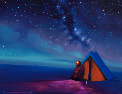 Fantasmas de la Noche, 2013 Óleo sobre lienzo  27 x 35 cm
