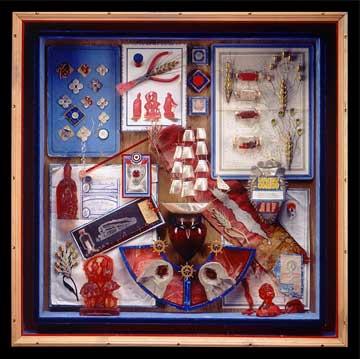 Alan Glass Bimbeloterie au Sucre d'Orge, 1994 ,79,38 x 78,74 x 15,24 cm.,Construction BoxL-1546