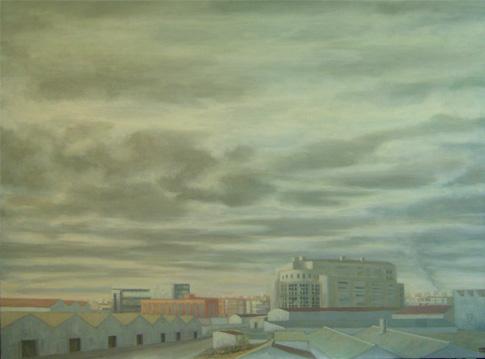Concha Gómez-Acebo Vallecas Estación, 2008. Óleo sobre lienzo, 97 x 130 cm.