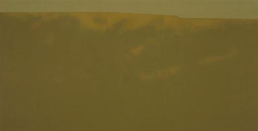 Horizonte 2004. Acrílico sobre tabla entelada, 33 x 65 cm