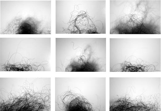 Martínez Lanz Interludio VIII, 2009 1/3 Impresión en papel de algodón con tintas pigmentadas 9 piezas de 30X30 cm.