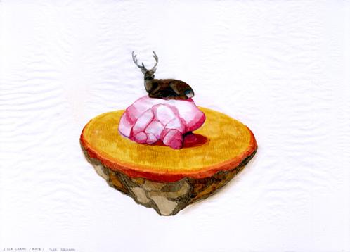 Islas Ciervo, 2013 Tinta y grafito sobre papel  29,5 x 42 cm