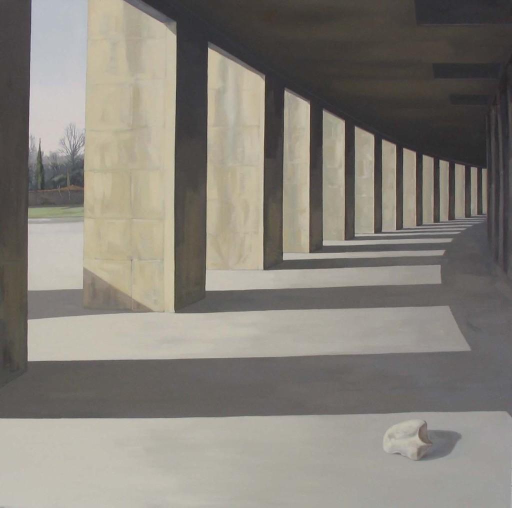 Jardín. 2005 Óleo/lienzo 150x150 cm.