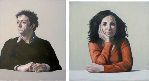 Javier. 2009. 100 x 81 cm. / Silvia. 2009. 90 x 90 cm.