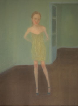Jeune fille óleo sobre lienzo 130 x 97 cm. 2009