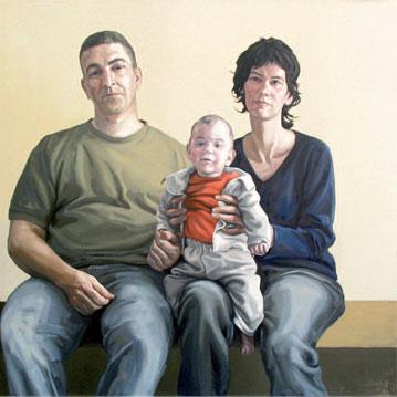 José, Natalia y Pablo. 2008. 130 x 130 cm.