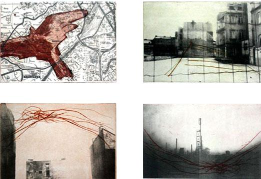 Johanna Clement Serie Bauwerk/Aedificio, 2006. Alugrafía y aguafuerte, 38 x 52 cm,