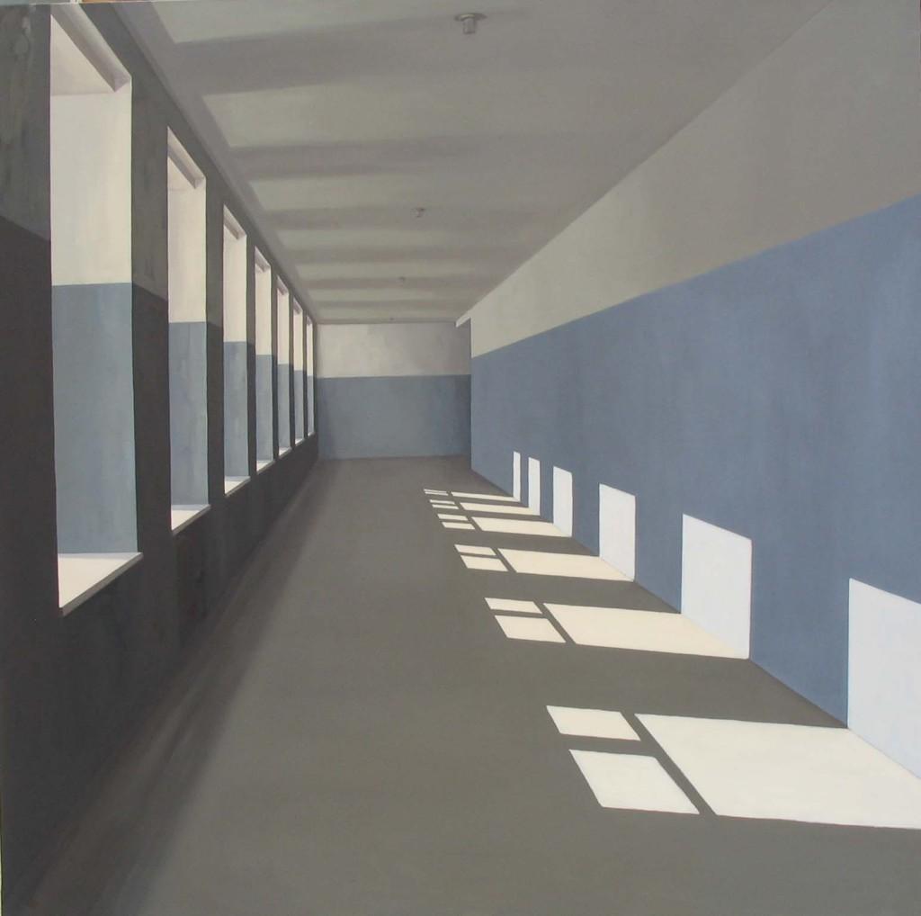 La mañana. 2005 Óleo/lienzo 150x150 cm.