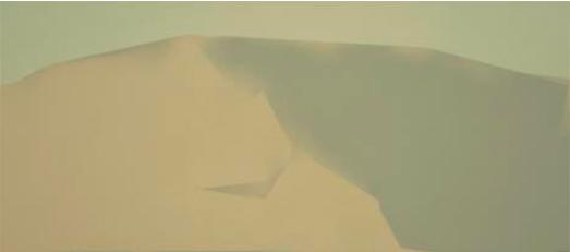 Ladera gris, 2005. Acrílico sobre tabla entelada, 27 x 60 cm.
