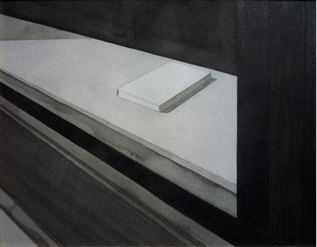 Libro, 2010, tinta china sobre papel Montval, 24 x 30 cm.