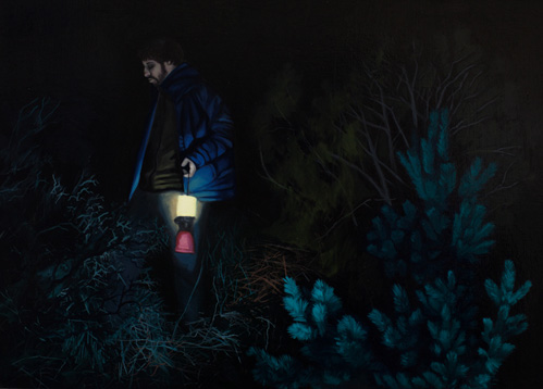 Máscaras en la Oscuridad II, 2014 Óleo sobre lienzo 38 x 46 cm