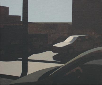 Aparcamiento, 2004 Acrílico sobre tabla entelada 24X20 cm.