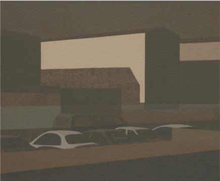 Casa del tren, 2004 Acrílico sobre tabla entelada 24X20 cm.