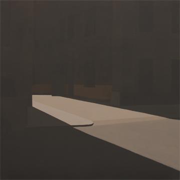 Dead end, 2004 Acrílico sobre lienzo 81X81 cm.