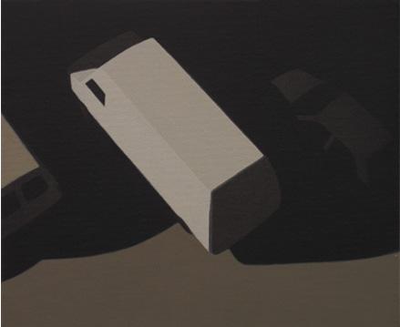 Furgoneta blanca, 2005 Acrílico sobre tabla entelada 24X20 cm.