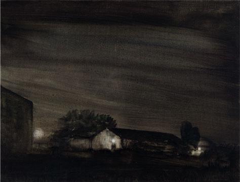 Noche en los campos, 2007 Óleo sobre lino 46X61 cm.