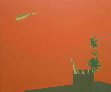 Origami, 2005. Acrílico sobre tela, 97 x 81 cm.