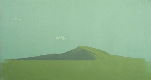 Otero Y Nubes.33x61cm.Acrílico-Tela.2008
