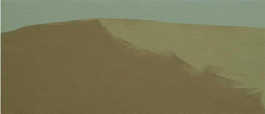 Paisaje, 2005. Acrílico sobre tela, 24 x 55 cm