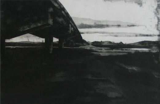Alberto Pina El Puente, 2008. Aguafuerte sobre latón estampado sobre papel Grabado Arte de 250 gr.