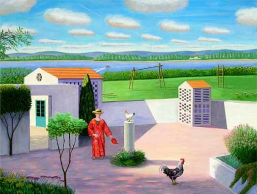 Por la mañana, 2005 Temple al huevo sobre tabla 125X155 cm.