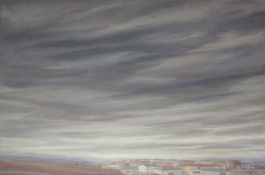 Pueblo en silencio – 190 x 110 – Óleo sobre lienzo – 2009