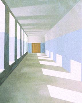 La puerta cerrada (2004), óleo/lienzo, 100 x 81 cm.