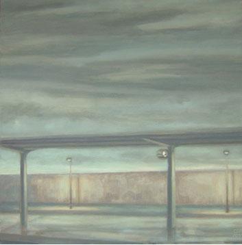 Reloj de estación – 40 x 40 – Óleo sobre lienzo – 2009