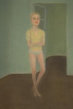 Retrato azul óleo sobre lienzo 130 x 89 cm. 2009