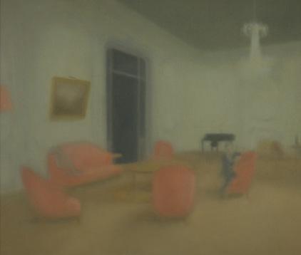 Salón óleo sobre lienzo 46 x 55 cm. 2008