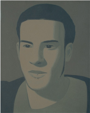 SANTIAGO, 2006 ACRÍLICO SOBRE LIENZO 24 x 19 cm