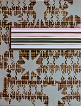 Manuel Losada Sin Título, 2009 Acrílico sobre tela estampada 146X114 cm.