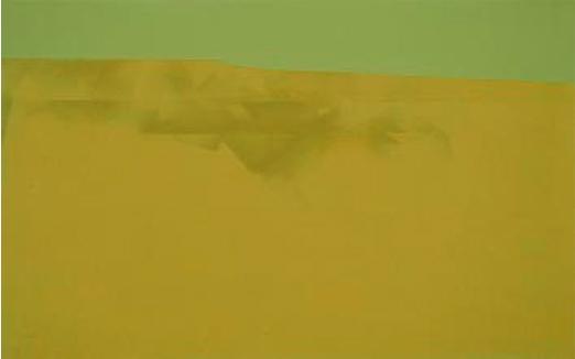 Tierra y cielo, 2004. Acrílico sobre tela, 22 x 35 cm