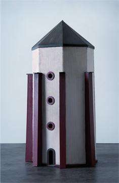 TORRE DE AGUA - Madera balsa / técnica mixta 56x25 cm