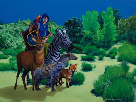 Tropa Animal, 2013 Óleo sobre lienzo 54 x 73 cm