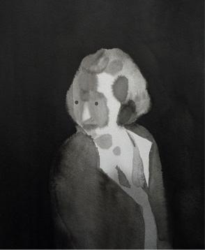 Una señora de cierta edad, 2010, tinta china sobre papel Montval, 30 x 24 cm.