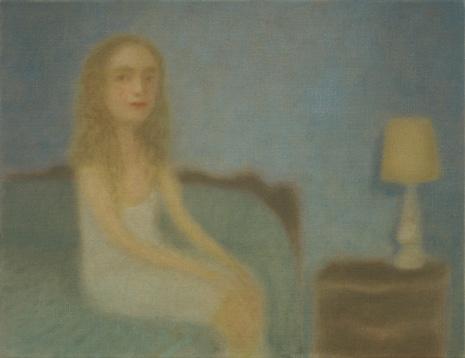 La alcoba 2012 óleo sobre lienzo 27 x 35 cm.