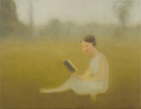 Simone de Beauvoir 2012 óleo sobre lienzo 27 x 35 cm.