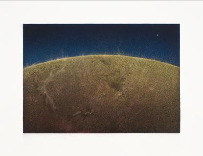 Soles,  2014.  Flashe y gouache sobre papel Arches  Papel 61 x 46 cm / Imagen 47 x 32 cm