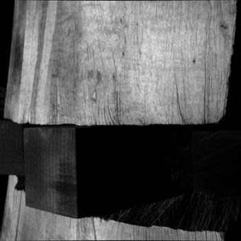 DESPIECE, 2014, castaño, vinagre y óxido de hierro, 2,20 x 1,20 ms.
