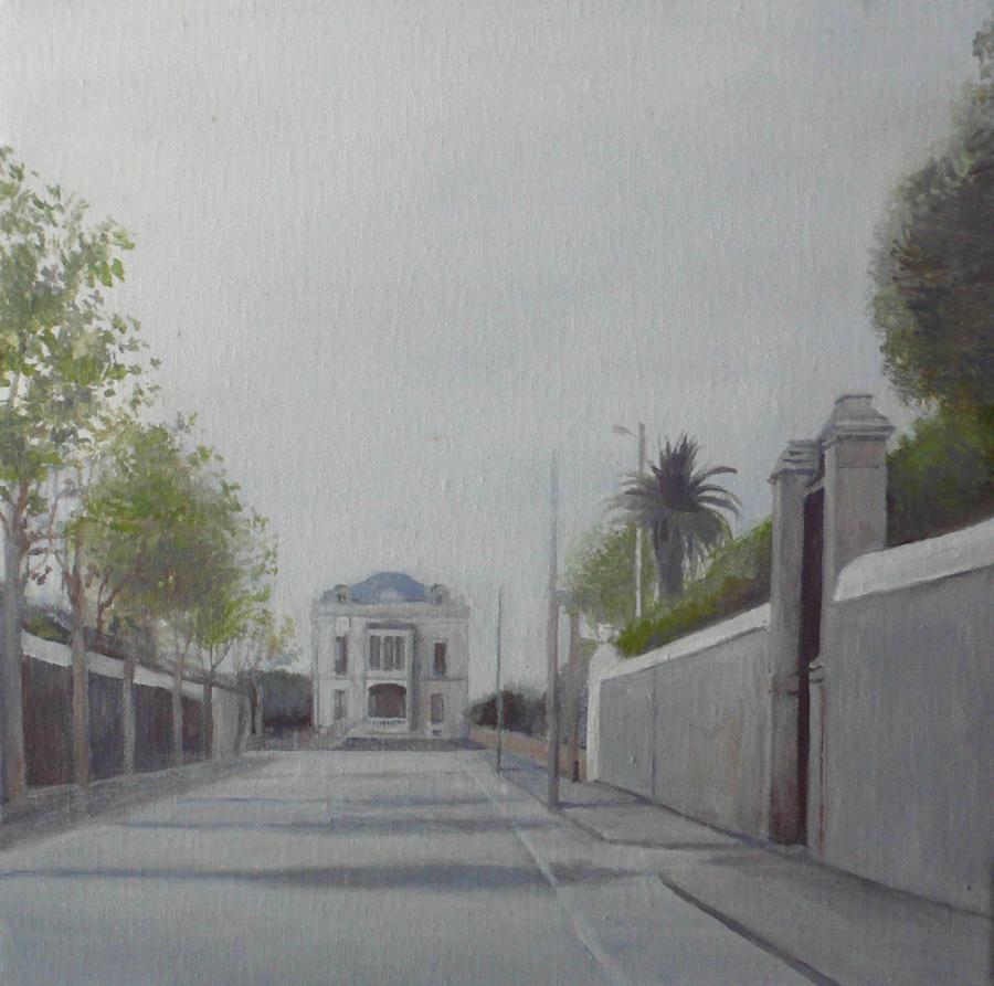 Casa de Ortiguera desde el paseo, 2014 - 30x30 cm
