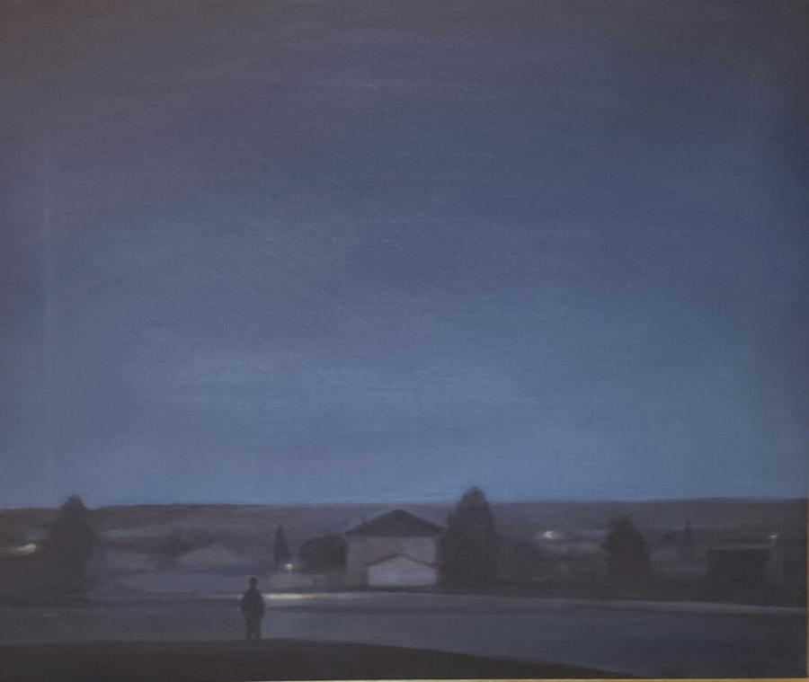 Federico Granell.Problemas sin solución, 2012, óleo/lienzo, 45x56 cm