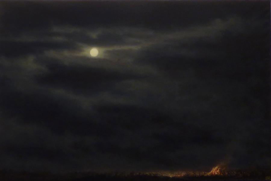 Concha Gómez-Acebo. Jondo, 2012, óleo/lienzo, 67x100cm