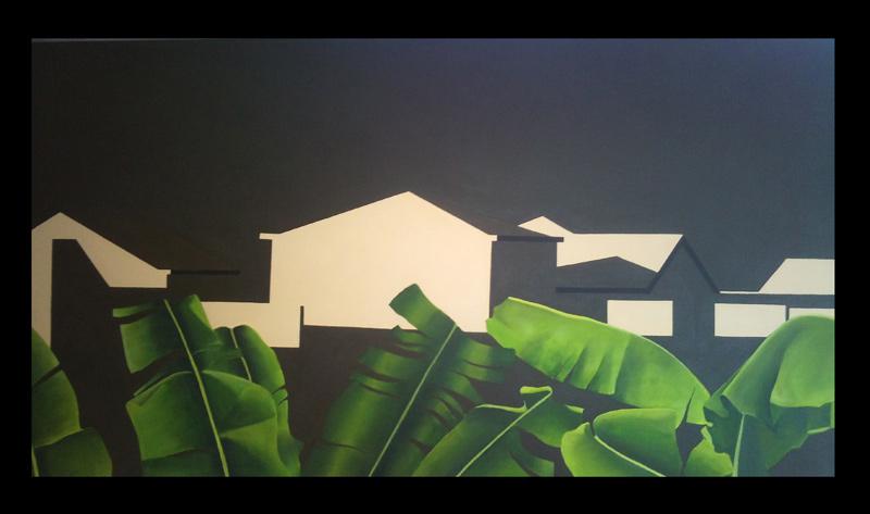 GretaChicheri.Plataneras enHaría,2011,acrílico/lienzo140x170cm