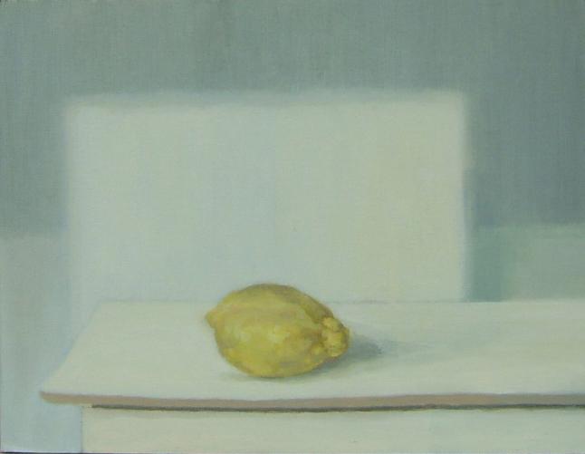 Limón (2011). Óleo/lienzo, 27 x 35 cm.