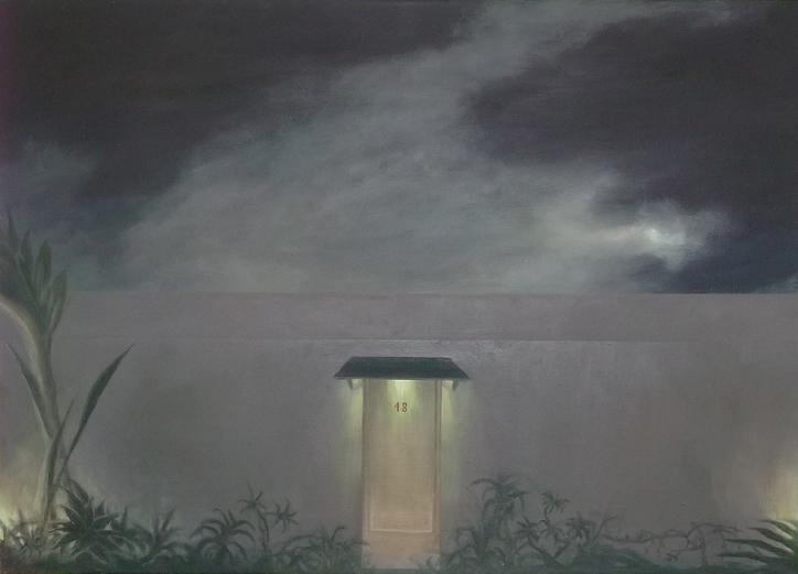 Puerta (2015). Óleo/lienzo, 50 x 70 cm.