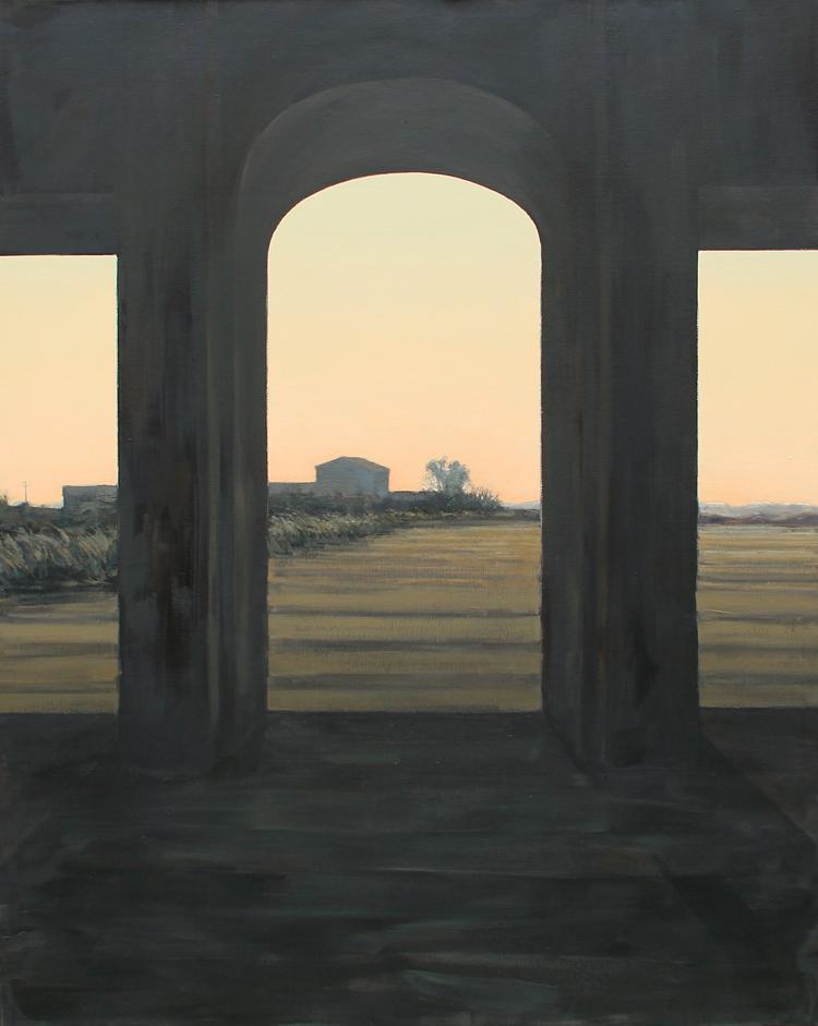"Sonata 2 ""Oeste""- Óleo sobre lienzo, 162x130 cm."