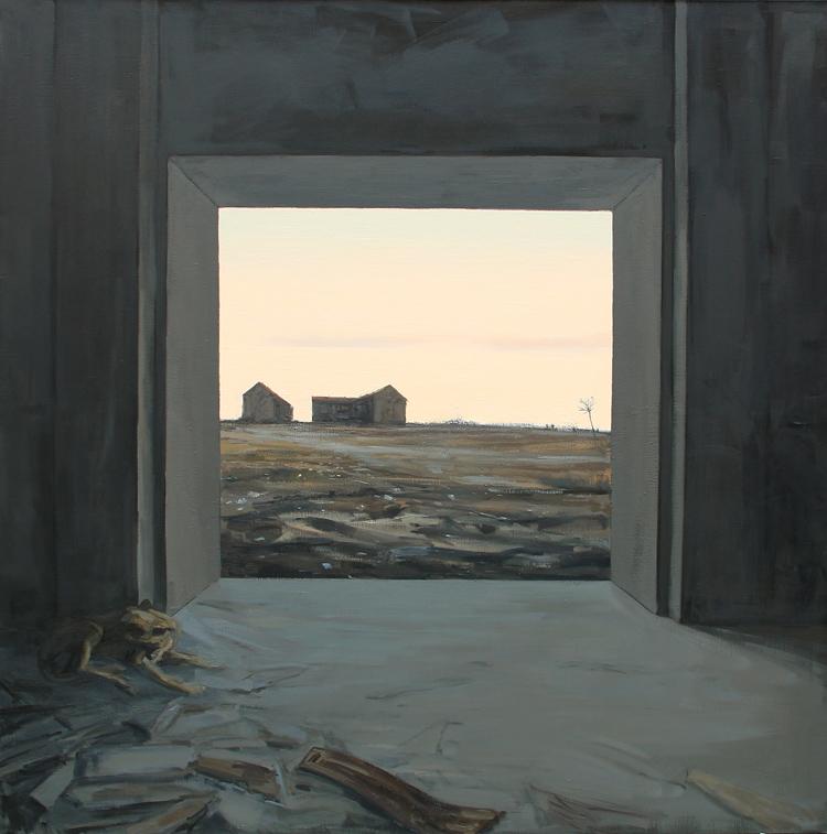 """Sonata 4 """"Al este""""- Óleo sobre lienzo, 162x130 cm."""